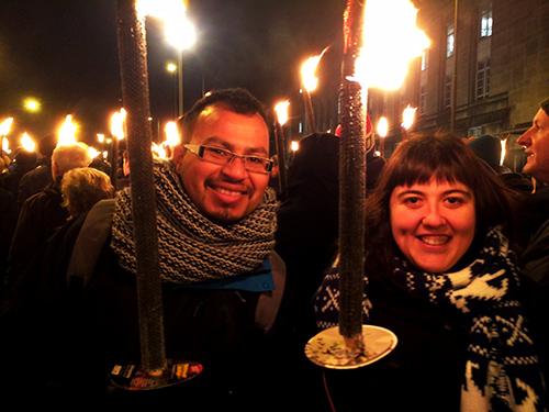 Torchlight Procession - Marcha de Antorchas en Edimburgo