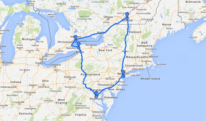 Nuestro recorrido en el Viajón 2014