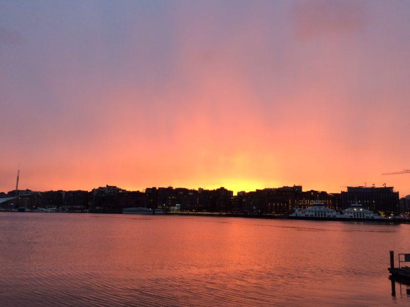 Ver el atardecer en Oslo