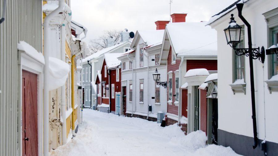 calle del centro histórico de Gavle