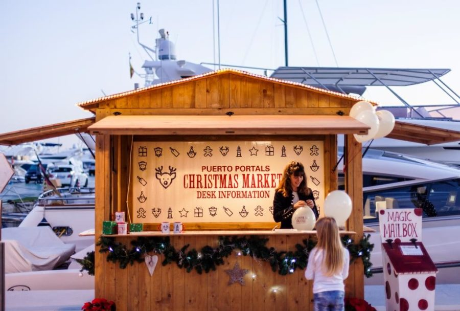 mercado de Navidad de puerto portals