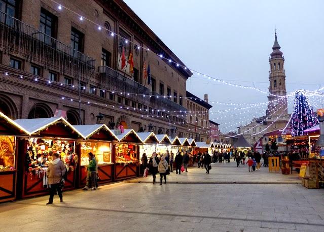 mercado de navidad en Zaragoza