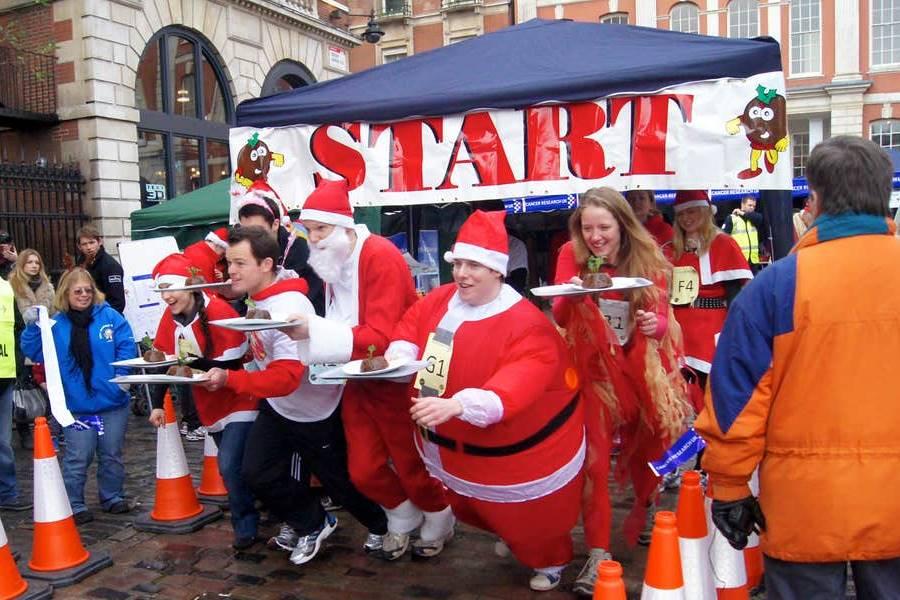 Londres en Navidad - Carrera de flanes