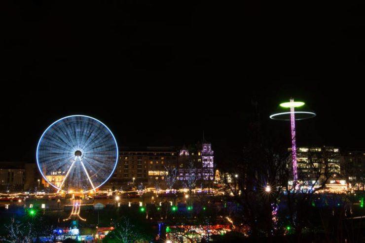 Edimburgo en Navidad. Noria gigante.