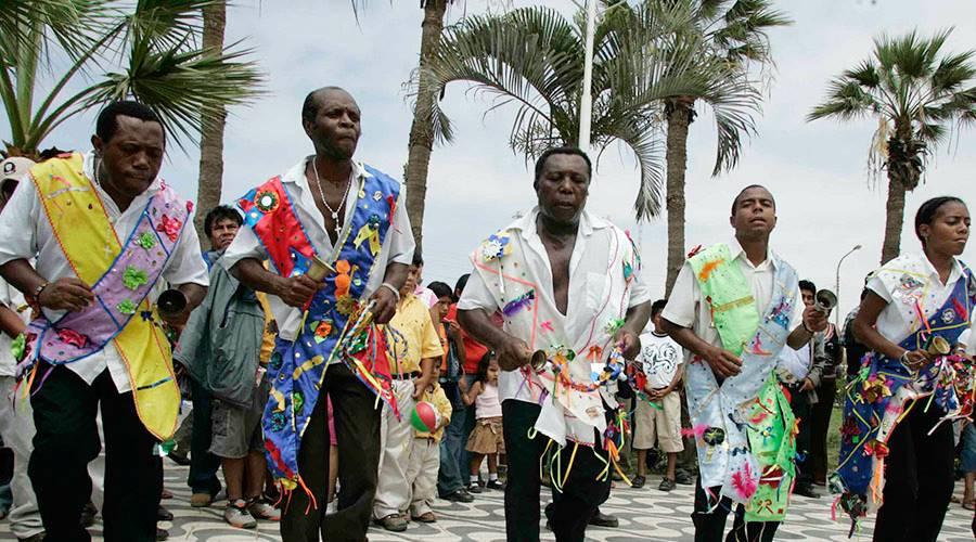 Afroperuanos celebrando navidad en Perú.