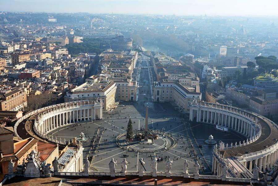 ver al Papa en el Vaticano - Vista aérea de la Plaza San Pedro