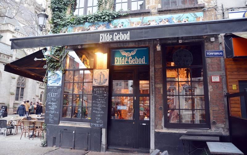 Front of the Elfde Gebod bar.