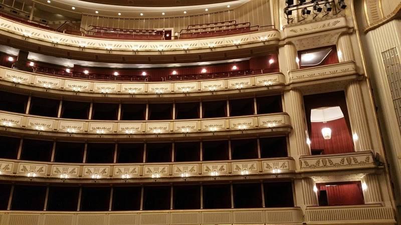Vista del palco en el interior de la Opera de Viena