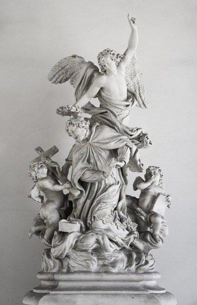 Escultura en el museo.