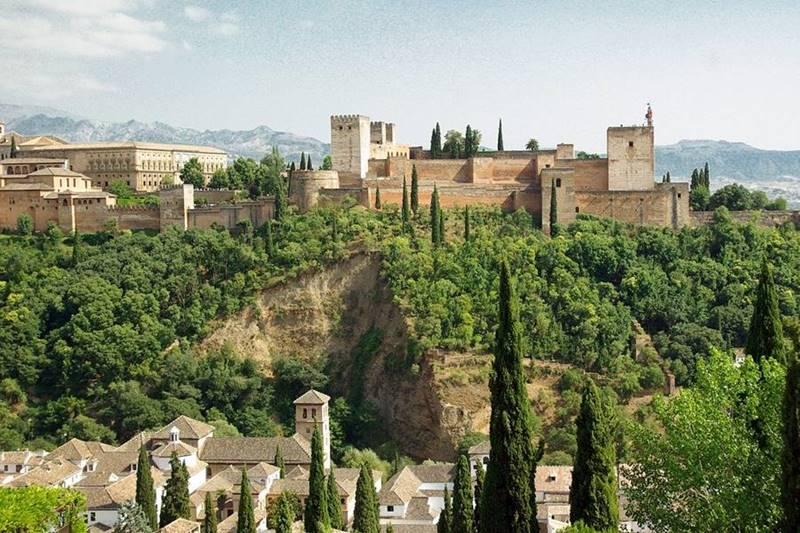 Vista panorámica de la Alhambra.