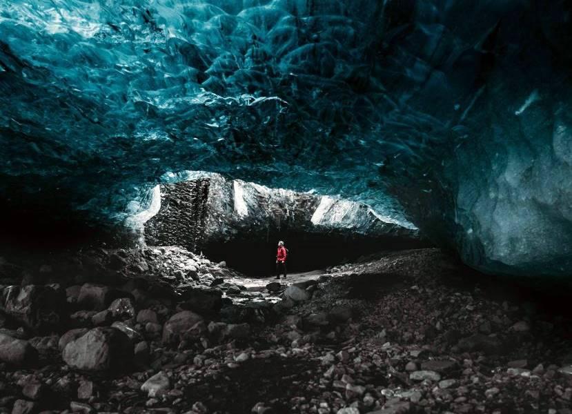 Interior del glaciar Torfajökull en Islandia.