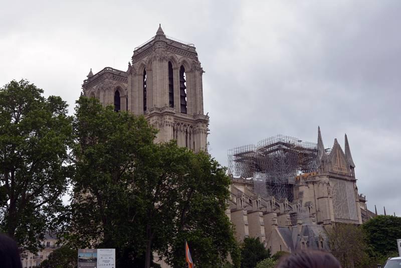 Notre Dame en ruinas después del incendio - Qué ver en París