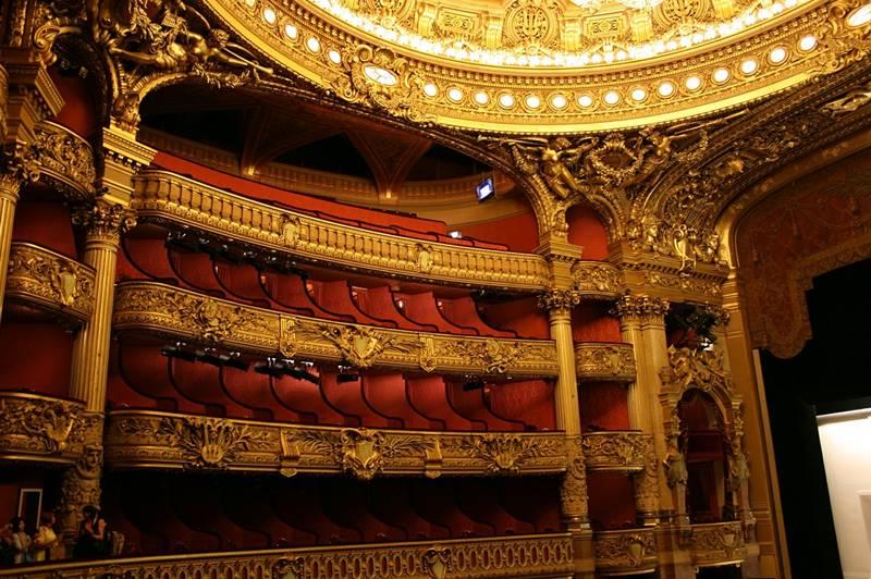 Vista de los palcos de la ópera - Qué ver en París
