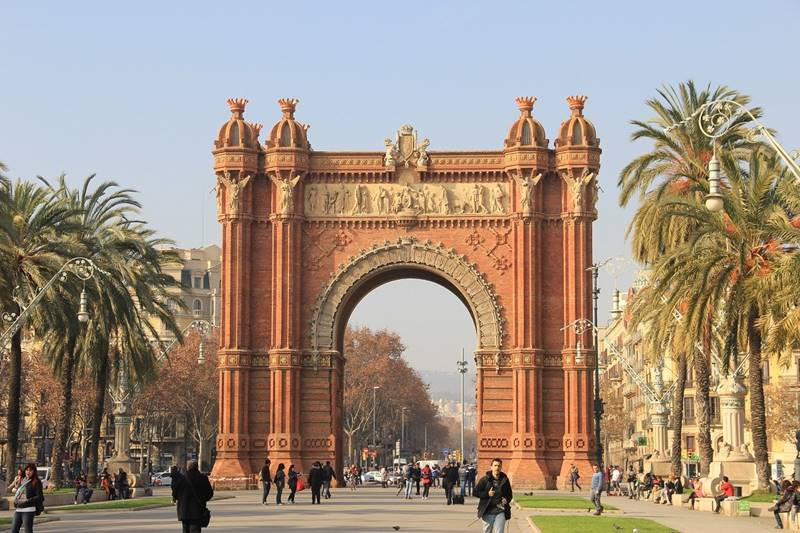 Vista del arco del triunfo de Barcelona