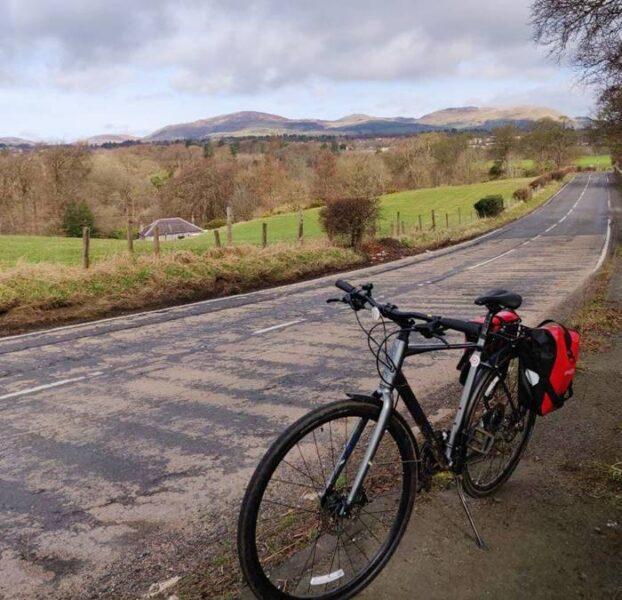Descanso en un viaje en bicicleta