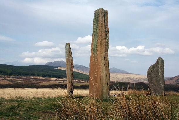 Uno de los 6 círculos de piedra