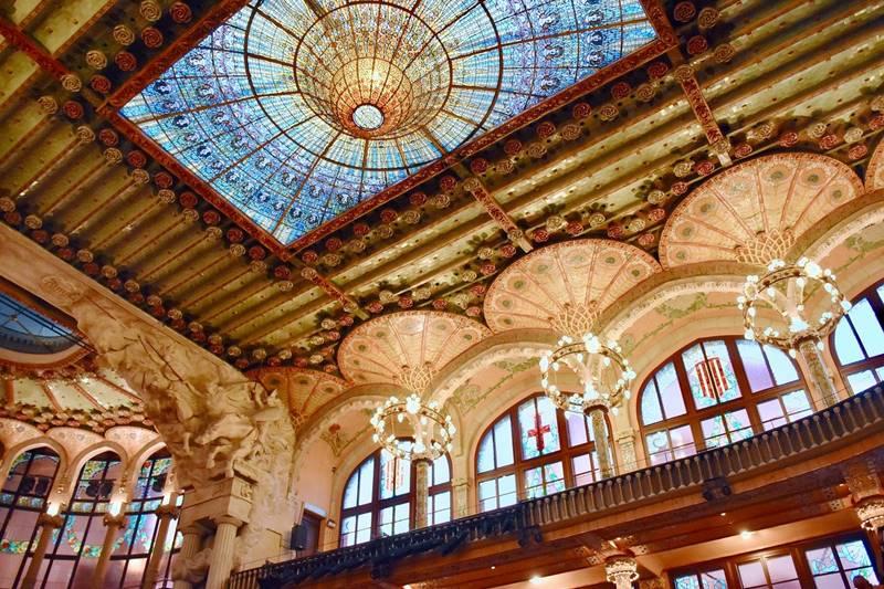 Interior del Palau de la Música