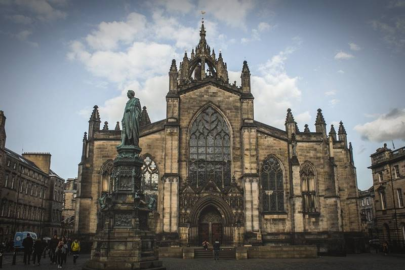 St Giles Catedral desde el frente